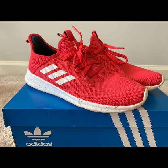Red Adidas Cloudfoam Pure women's